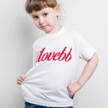koszulka-ilovebb-kids-biala